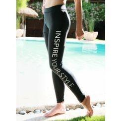 Vintage Vender - Lettering Yoga Pants
