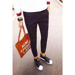 COOLIN - Fleece Lined Straight-Cut Jeans
