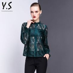 Y:Q - Lace Long-Sleeve Top