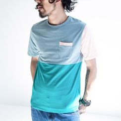 YIDESIMPLE - Color-Block T-Shirt