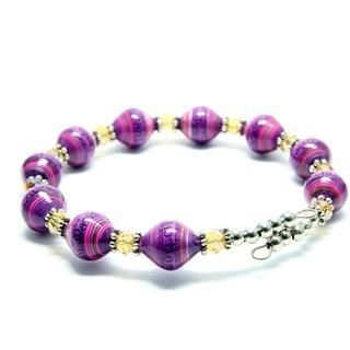 Papellery - Adjustable Bendable Small Diamond Paper Beads Bracelet