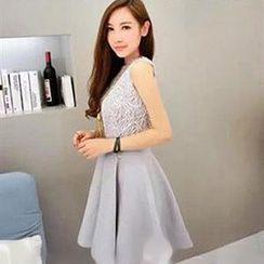 Champi - Embroidered Lace Sleeveless Dress
