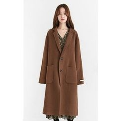Someday, if - Single-Breasted Oversized Wool Blend Coat