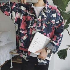 Troopers - Camouflage-Print Loose-Fit Jacket