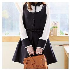 Sechuna - Sleeveless A-Line Mini Dress