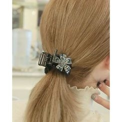 Miss21 Korea - Rhinestone-Flower Hair Clamp