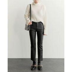 UPTOWNHOLIC - Flat-Front Straight-Cut Pants