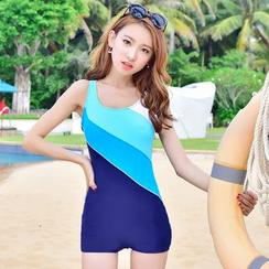 Charmaine - Color Block Swimsuit