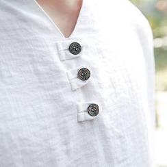Blueforce - Short-Sleeve Notch Neck Top