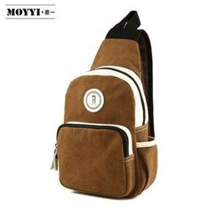 Moyyi - Applique Paneled Canvas Slingbag
