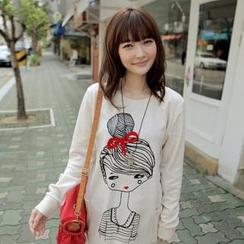 CLICK - 女孩印花長套衫