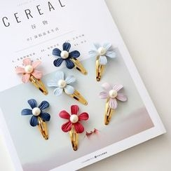 Gold Beam - Flower Hair Clip