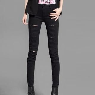 On The Block - Distressed Skinny Pants