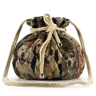 Ethel - Animal-Print Drawstring Bucket Cross Bag