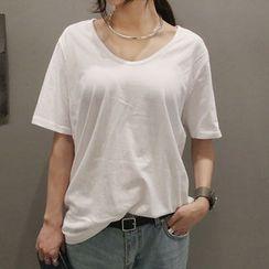 NANING9 - Cotton Short-Sleeve T-Shirt