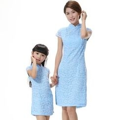 Emperial - Family Lace Panel Cheongsam