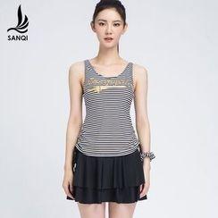 SANQI - Striped Swimdress