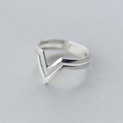 A'ROCH - 925 Sterling Silver V shape Sterling Silver Ring
