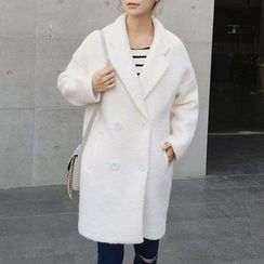 Lavogo - Plain Lapel Knit Coat