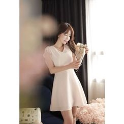 MyFiona - Flared Chiffon Mini Dress