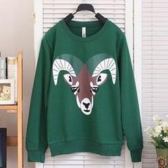 Lina - Deer Print Pullover