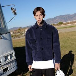 Mr. Cai - Fleece-Lined Pocket Buttoned Jacket