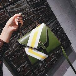 优尚良品 - 花纹梯形手提包连肩带