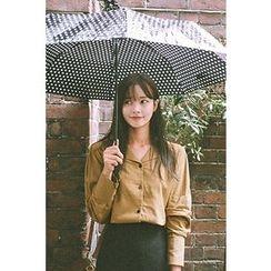 CHERRYKOKO - long-Sleeve Plain Shirt