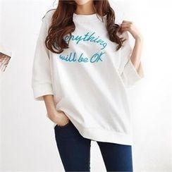 PEPER - 3/4-Sleeve Lettering T-Shirt