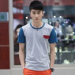 SOLER - Colour Block Short-Sleeve T-shirt