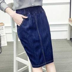 Nycto - Denim Pencil Skirt