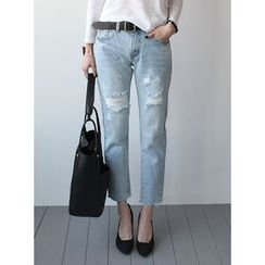 STYLEBYYAM - Distressed Baggy Jeans