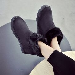 Laceuplux - Furry Short Boots