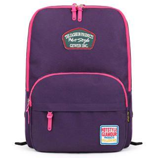 Mr.ace Homme - Contrast-Zip Appliqué Nylon Backpack