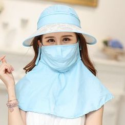 SHUMI - Sun Hat with Face Mask