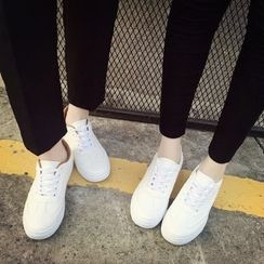 YIVIS - Plain Lace Up Sneakers