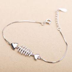 Furando - 925 Sterling Silver Fishbone Bracelet