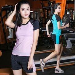 AIMIDA - Set: Color-Block T-Shirt + Shorts