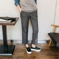 JOAMOM - Band-Waist Straight-Cut Pants