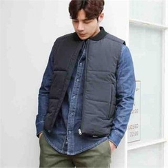 BYMONO - Quilted Padded Zip-Up Vest
