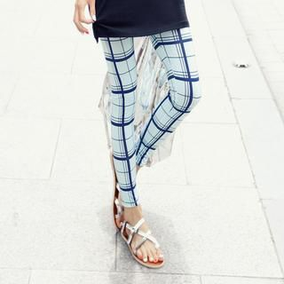 REDOPIN - Plaid Skinny Pants