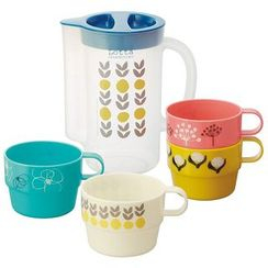 Skater - Lotta Jansdotter Stacking Cups 4 Pieces Set with Case