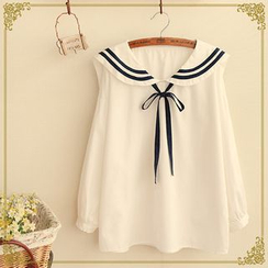 Fairyland - Sailor Collar Long Sleeve Top