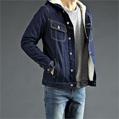 THE COVER - Fleece-Lined Denim Jacket
