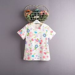 Kidora - Kids Floral Print Short-Sleeve T-Shirt
