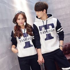 Lovebirds - Set: Couple Printed Hoodie + Sweatpants