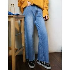 FROMBEGINNING - Washed Wide-Leg Jeans