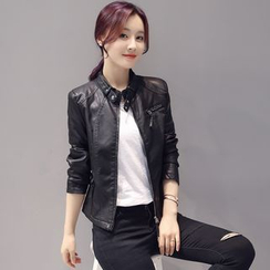 Neeya - Faux Leather Jacket