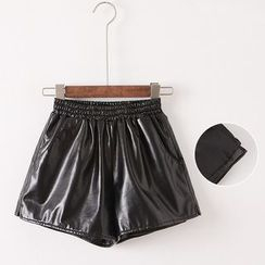 Gatz - Faux-Leather Shorts