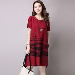 Splashmix - Short-Sleeve Printed Dress